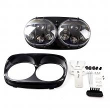 Harley's lights Road glide LED Headlight Harley accessories headlight High/Low Double Headlight For ...